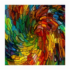 Stained Glass Patterns Colorful Medium Glasses Cloth (2-Side)