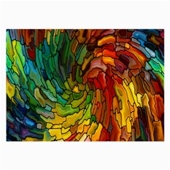 Stained Glass Patterns Colorful Large Glasses Cloth (2-Side)