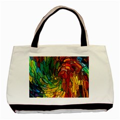 Stained Glass Patterns Colorful Basic Tote Bag (two Sides)