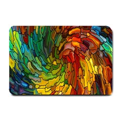 Stained Glass Patterns Colorful Small Doormat