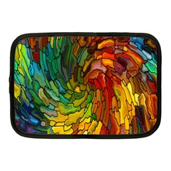 Stained Glass Patterns Colorful Netbook Case (medium)
