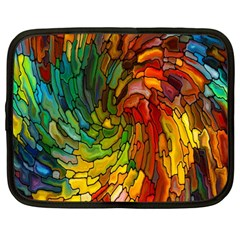 Stained Glass Patterns Colorful Netbook Case (large)
