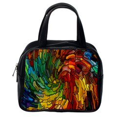 Stained Glass Patterns Colorful Classic Handbags (one Side)