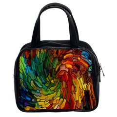 Stained Glass Patterns Colorful Classic Handbags (2 Sides)