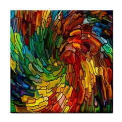 Stained Glass Patterns Colorful Face Towel