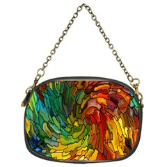 Stained Glass Patterns Colorful Chain Purses (one Side)