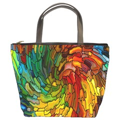 Stained Glass Patterns Colorful Bucket Bags