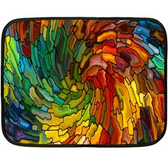 Stained Glass Patterns Colorful Double Sided Fleece Blanket (mini)