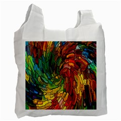 Stained Glass Patterns Colorful Recycle Bag (two Side)