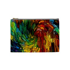 Stained Glass Patterns Colorful Cosmetic Bag (medium)