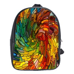 Stained Glass Patterns Colorful School Bags(large)