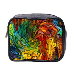 Stained Glass Patterns Colorful Mini Toiletries Bag 2 Side