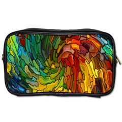 Stained Glass Patterns Colorful Toiletries Bags 2-Side