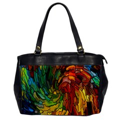 Stained Glass Patterns Colorful Office Handbags