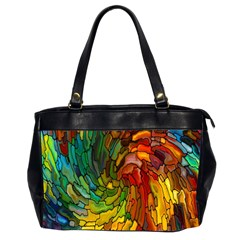 Stained Glass Patterns Colorful Office Handbags (2 Sides)