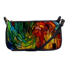Stained Glass Patterns Colorful Shoulder Clutch Bags