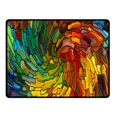 Stained Glass Patterns Colorful Fleece Blanket (small)