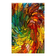 Stained Glass Patterns Colorful Shower Curtain 48  x 72  (Small)