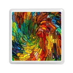 Stained Glass Patterns Colorful Memory Card Reader (square)