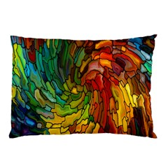 Stained Glass Patterns Colorful Pillow Case (two Sides)