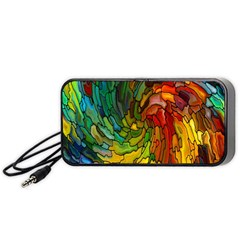 Stained Glass Patterns Colorful Portable Speaker (Black)