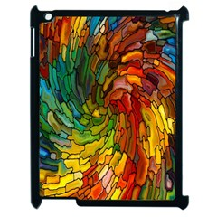 Stained Glass Patterns Colorful Apple Ipad 2 Case (black)