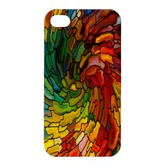 Stained Glass Patterns Colorful Apple Iphone 4/4s Hardshell Case
