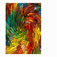 Stained Glass Patterns Colorful Small Garden Flag (two Sides)