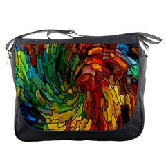 Stained Glass Patterns Colorful Messenger Bags