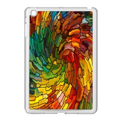 Stained Glass Patterns Colorful Apple Ipad Mini Case (white)