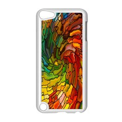 Stained Glass Patterns Colorful Apple Ipod Touch 5 Case (white)