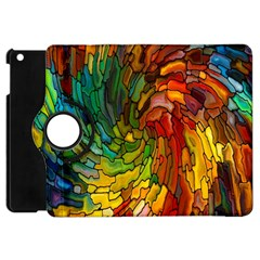Stained Glass Patterns Colorful Apple iPad Mini Flip 360 Case