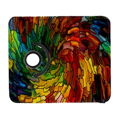 Stained Glass Patterns Colorful Galaxy S3 (flip/folio)