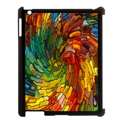 Stained Glass Patterns Colorful Apple Ipad 3/4 Case (black)