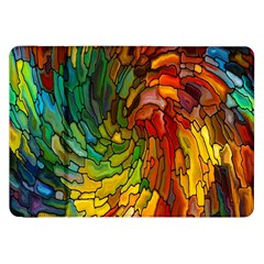 Stained Glass Patterns Colorful Samsung Galaxy Tab 8.9  P7300 Flip Case
