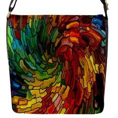 Stained Glass Patterns Colorful Flap Messenger Bag (s)