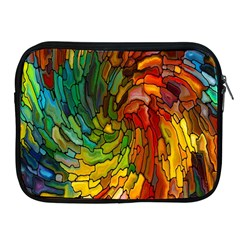 Stained Glass Patterns Colorful Apple Ipad 2/3/4 Zipper Cases