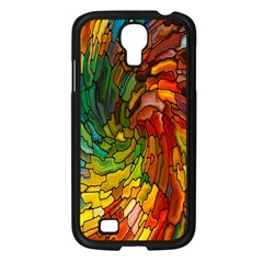 Stained Glass Patterns Colorful Samsung Galaxy S4 I9500/ I9505 Case (black)