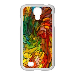 Stained Glass Patterns Colorful Samsung Galaxy S4 I9500/ I9505 Case (white)