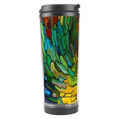 Stained Glass Patterns Colorful Travel Tumbler