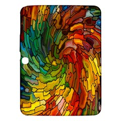 Stained Glass Patterns Colorful Samsung Galaxy Tab 3 (10 1 ) P5200 Hardshell Case