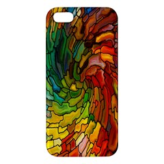 Stained Glass Patterns Colorful Iphone 5s/ Se Premium Hardshell Case