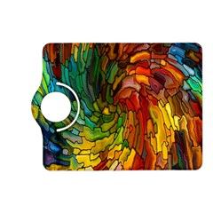 Stained Glass Patterns Colorful Kindle Fire Hd (2013) Flip 360 Case