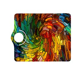 Stained Glass Patterns Colorful Kindle Fire Hdx 8 9  Flip 360 Case