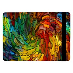 Stained Glass Patterns Colorful Samsung Galaxy Tab Pro 12 2  Flip Case
