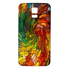 Stained Glass Patterns Colorful Samsung Galaxy S5 Back Case (white)