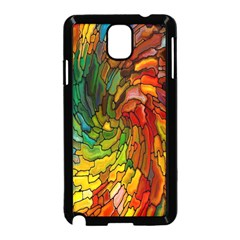 Stained Glass Patterns Colorful Samsung Galaxy Note 3 Neo Hardshell Case (Black)