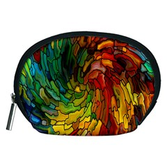 Stained Glass Patterns Colorful Accessory Pouches (medium)
