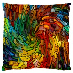 Stained Glass Patterns Colorful Standard Flano Cushion Case (one Side)