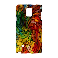 Stained Glass Patterns Colorful Samsung Galaxy Note 4 Hardshell Case